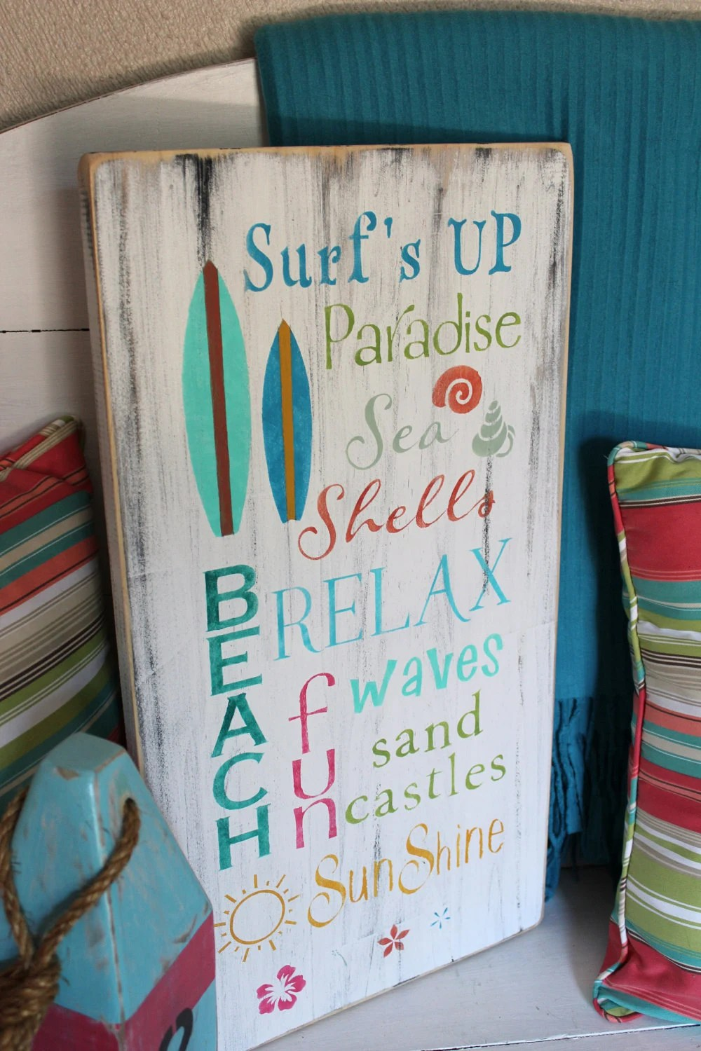 Best Beach Words Sign Subway Style Coastal Cottage Nursery And This Month