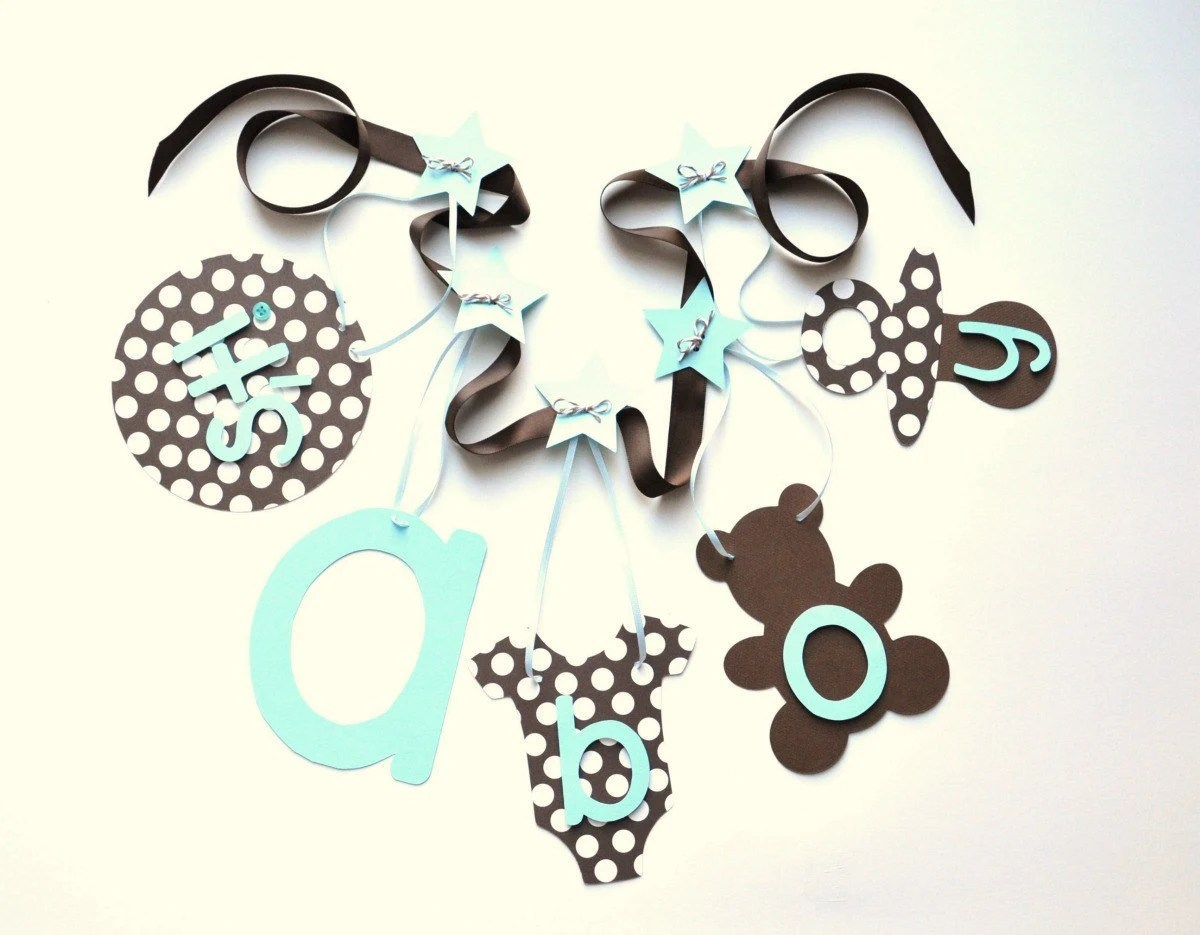 Best Blue And Brown Baby Shower Decorations It S A Boy Banner This Month