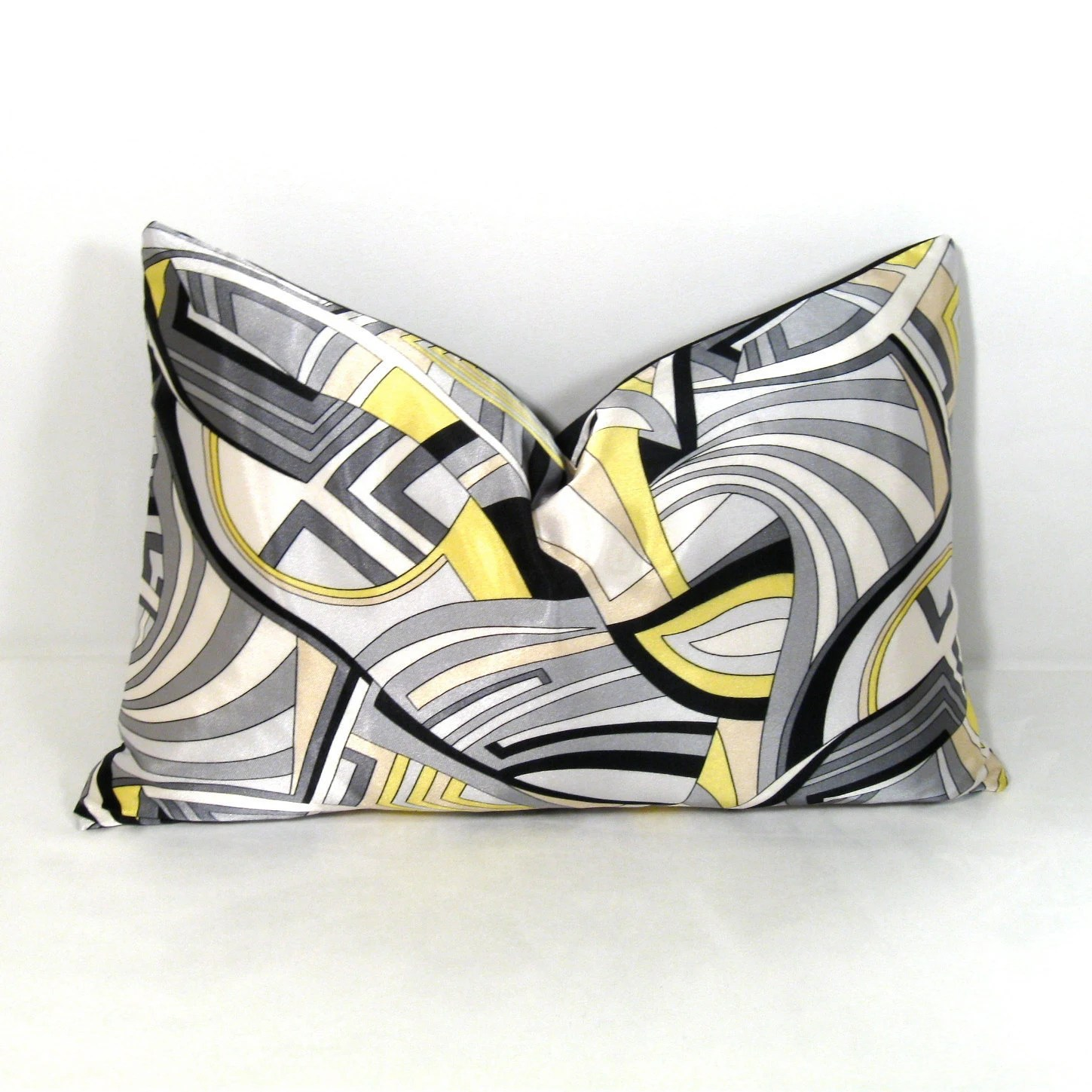 Best Yellow Grey Pillow Cover Gray Decorative Cushion Black This Month