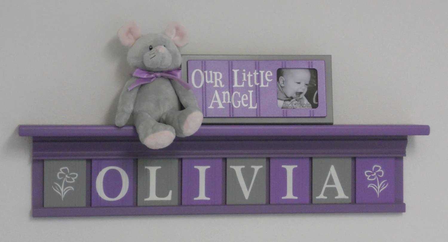 Best Purple Nursery Name Letters Baby Girl Nursery Name Decor This Month