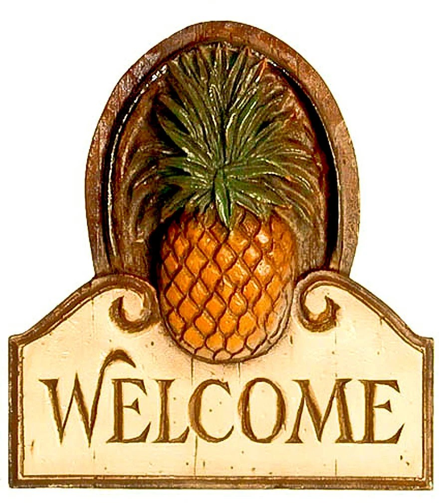 Best Pineapple Welcome Wall Plaque This Month