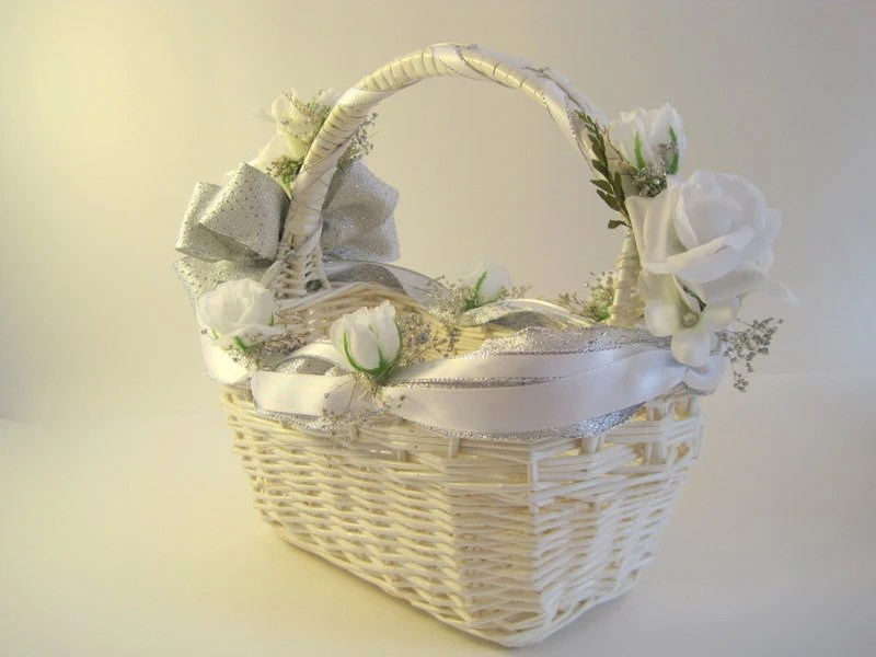 Best Large Silver White Decorative Wicker Basket This Month