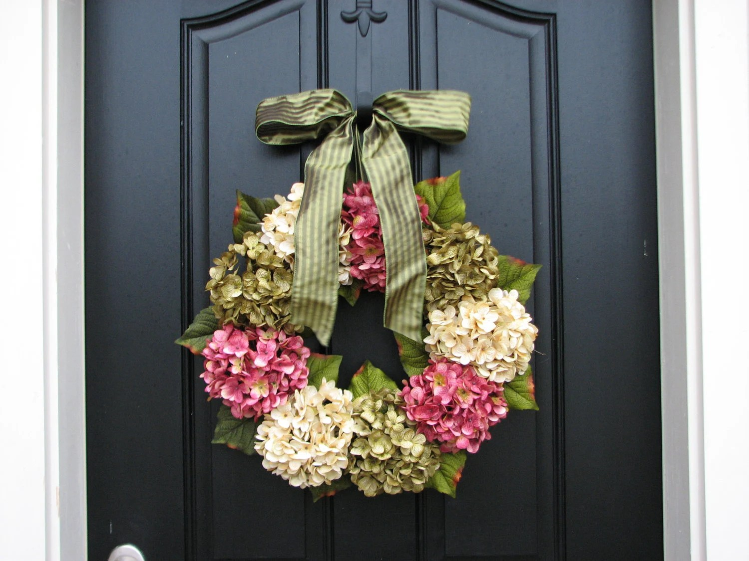 Best Spring Wreaths Hydrangea Wreath Spring Decorations Online This Month