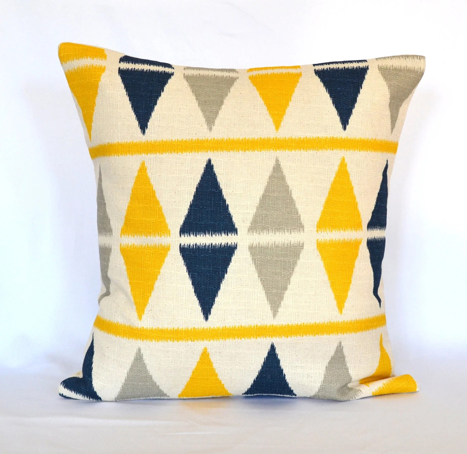 Best Pillows Blue Navy And Yellow Decorative Pillow Cover Throw This Month