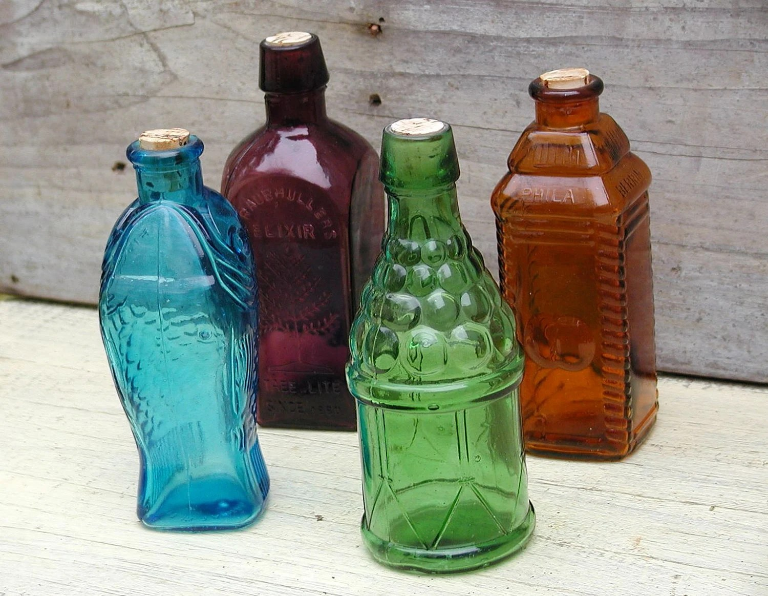 Best Decorative Colored Glass Bottles Set Of 4 This Month