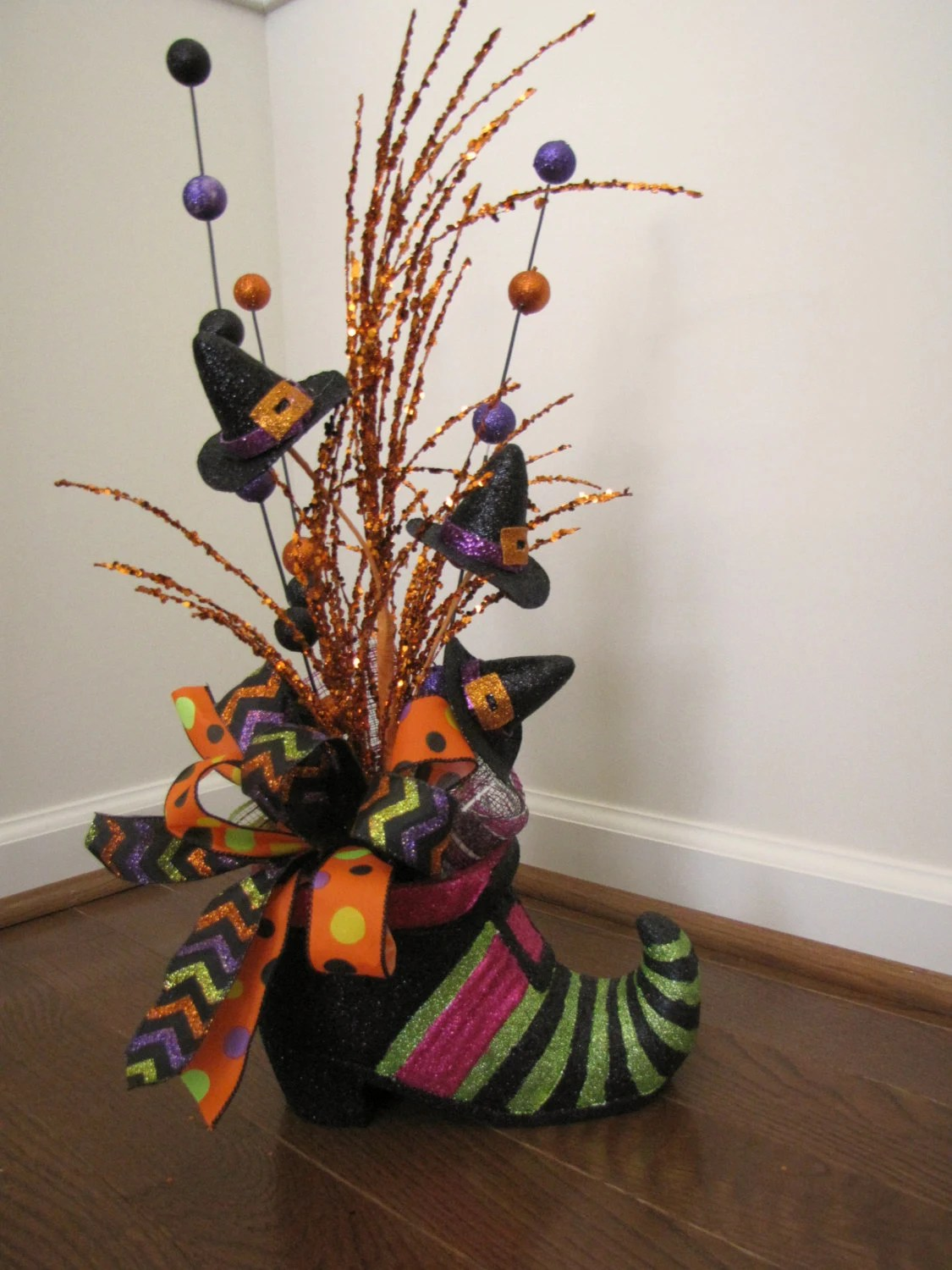 Best Witch Shoe Halloween Table Decoration Witch Hat Decoration This Month