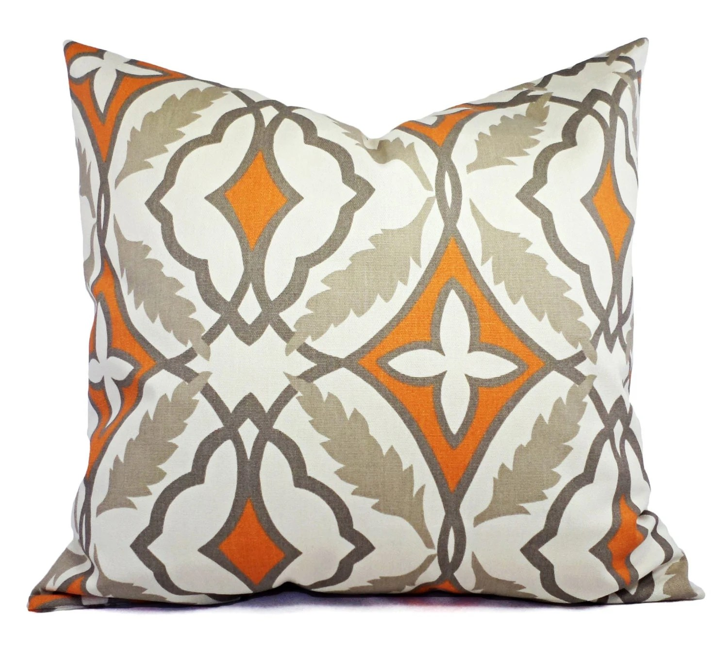 Best Two Decorative Pillow Covers Orange And Beige By This Month