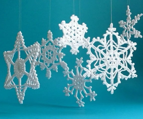 Best Large Crochet Snowflake Ornaments White Crochet Snowflakes This Month