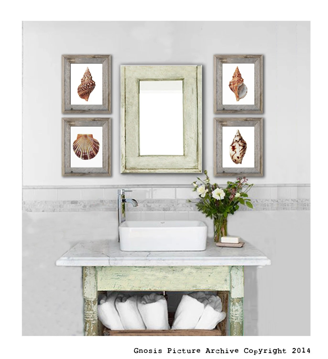 Best Items Similar To Set Of 4 Seashell Wall Art Prints Beach This Month