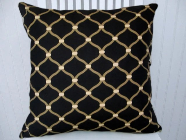 Best Black Beige Decorative Pillow Cover 18X18 By This Month