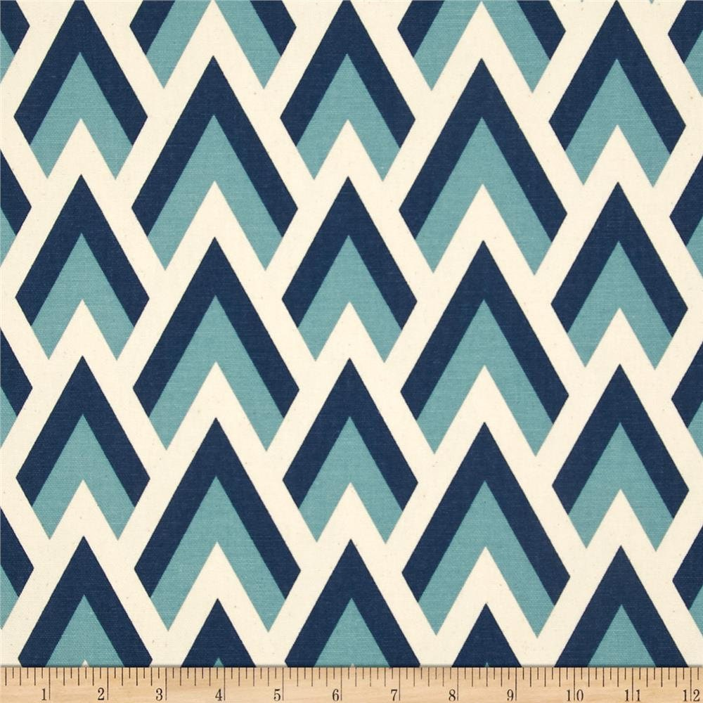 Best Blue Geometric Fabric By The Yard Zapp Felix Natural This Month