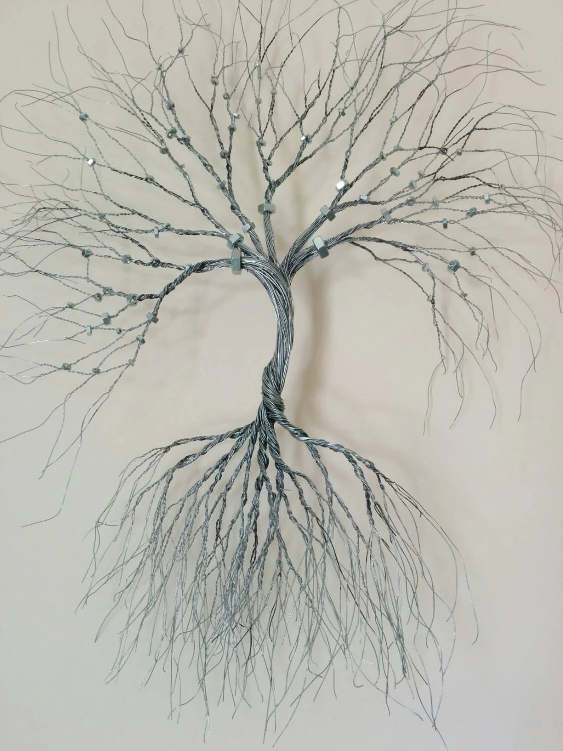 Best Silver Wire Wall Art Tree Of Life Wall Decoration Decorative This Month