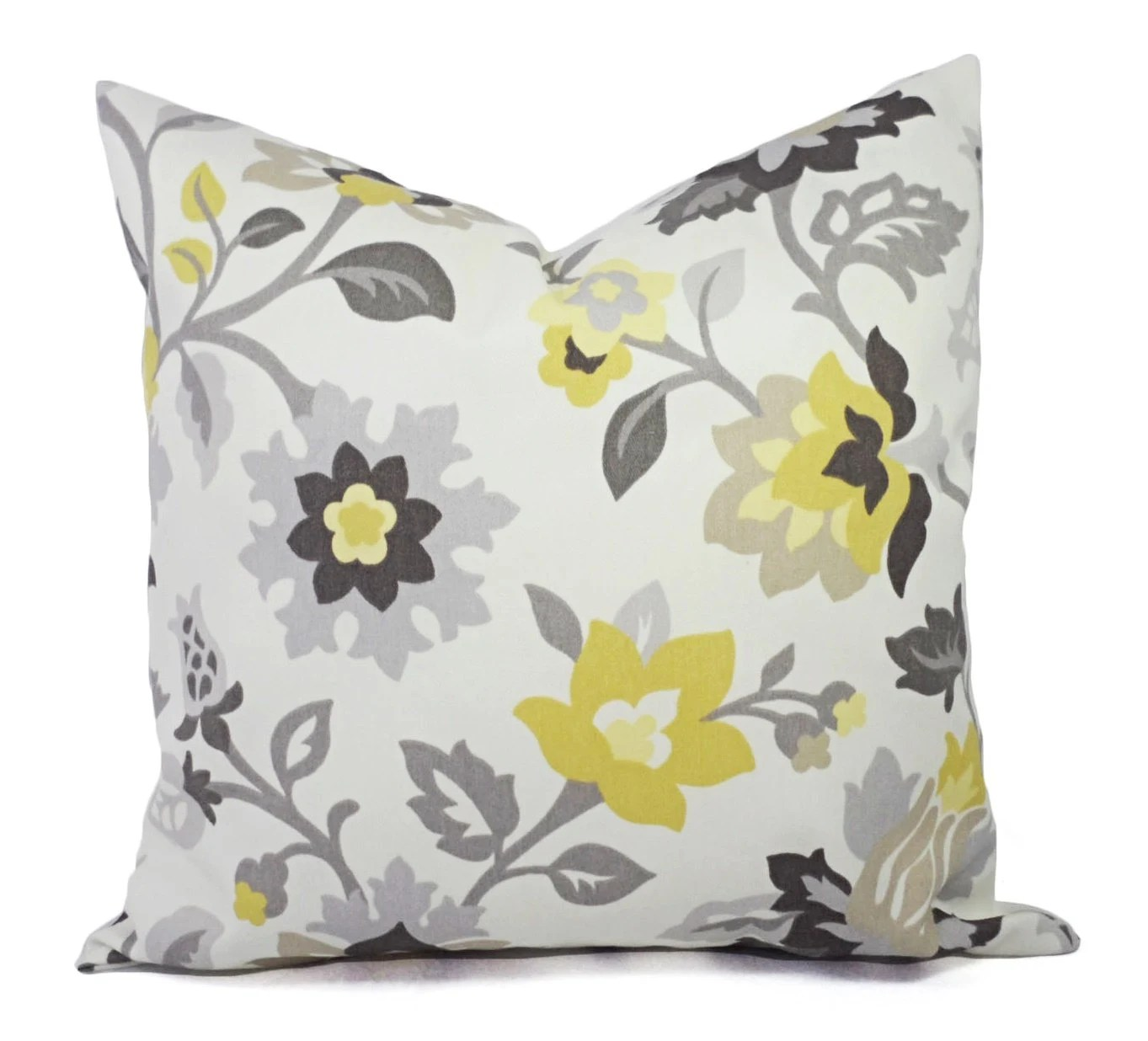 Best Two Decorative Pillows Yellow And Grey Pillow Covers This Month