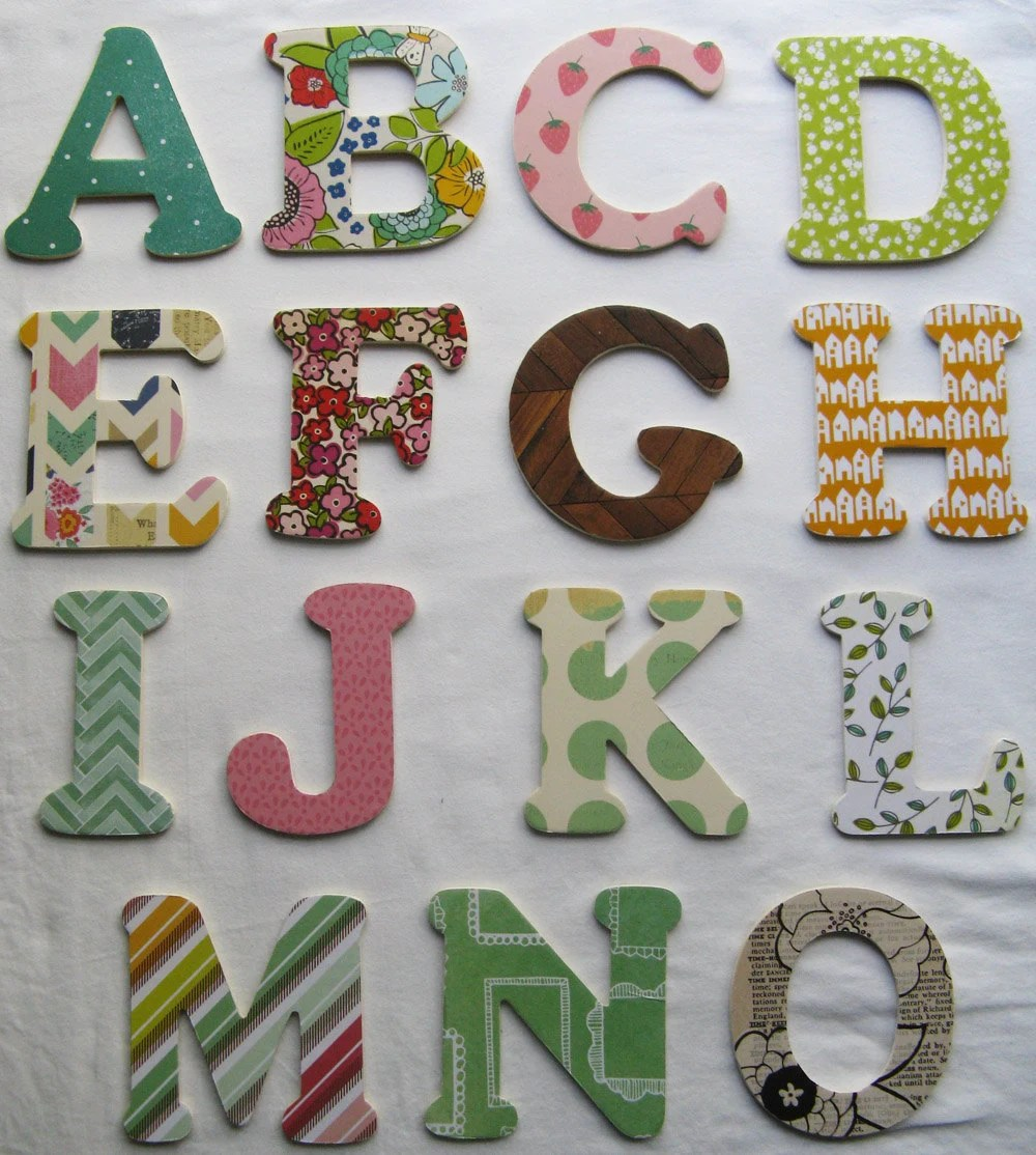 Best Decorative Wooden Letters Wooden Alphabet Letters Mix And This Month