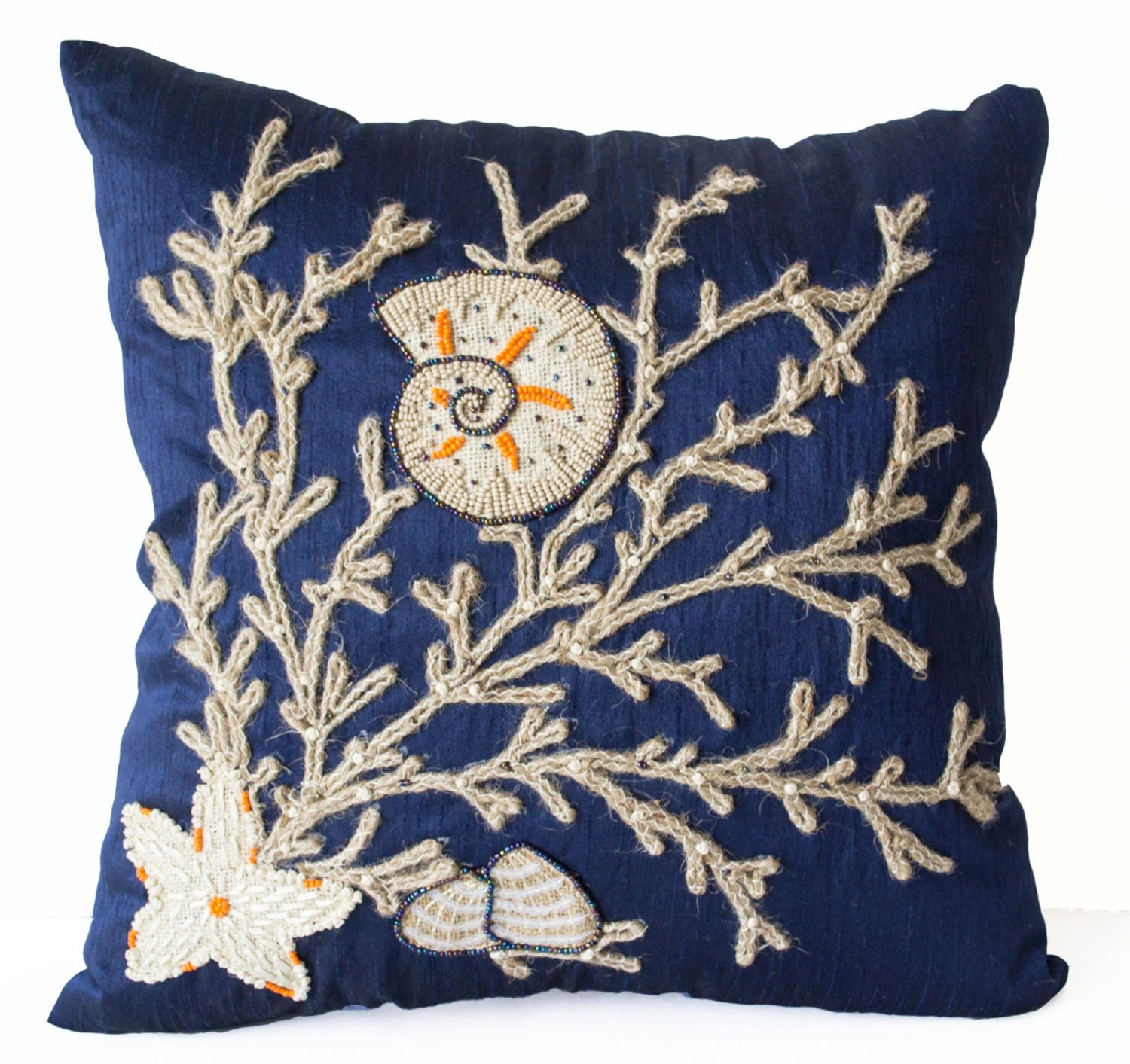 Best Decorative Pillow Cover Sequin Beaded Nautical By Amorebeaute This Month