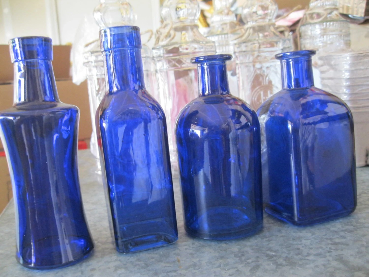 Best 4 Cobalt Blue Decorative Colored Glass Bottles By This Month
