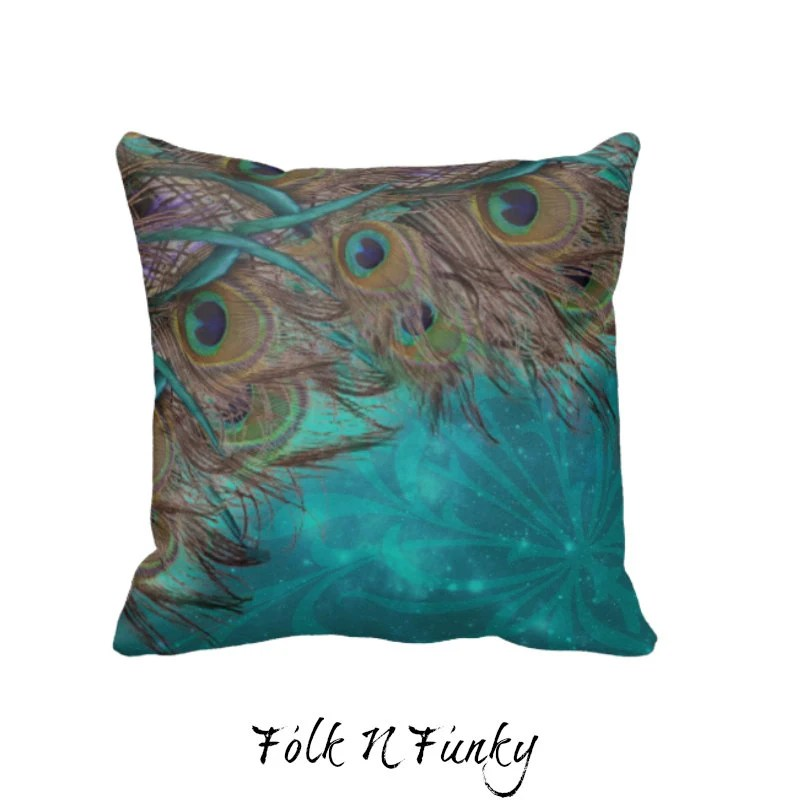 Best Peacock Pillow Decorative Throw Pillows Turquoise By This Month