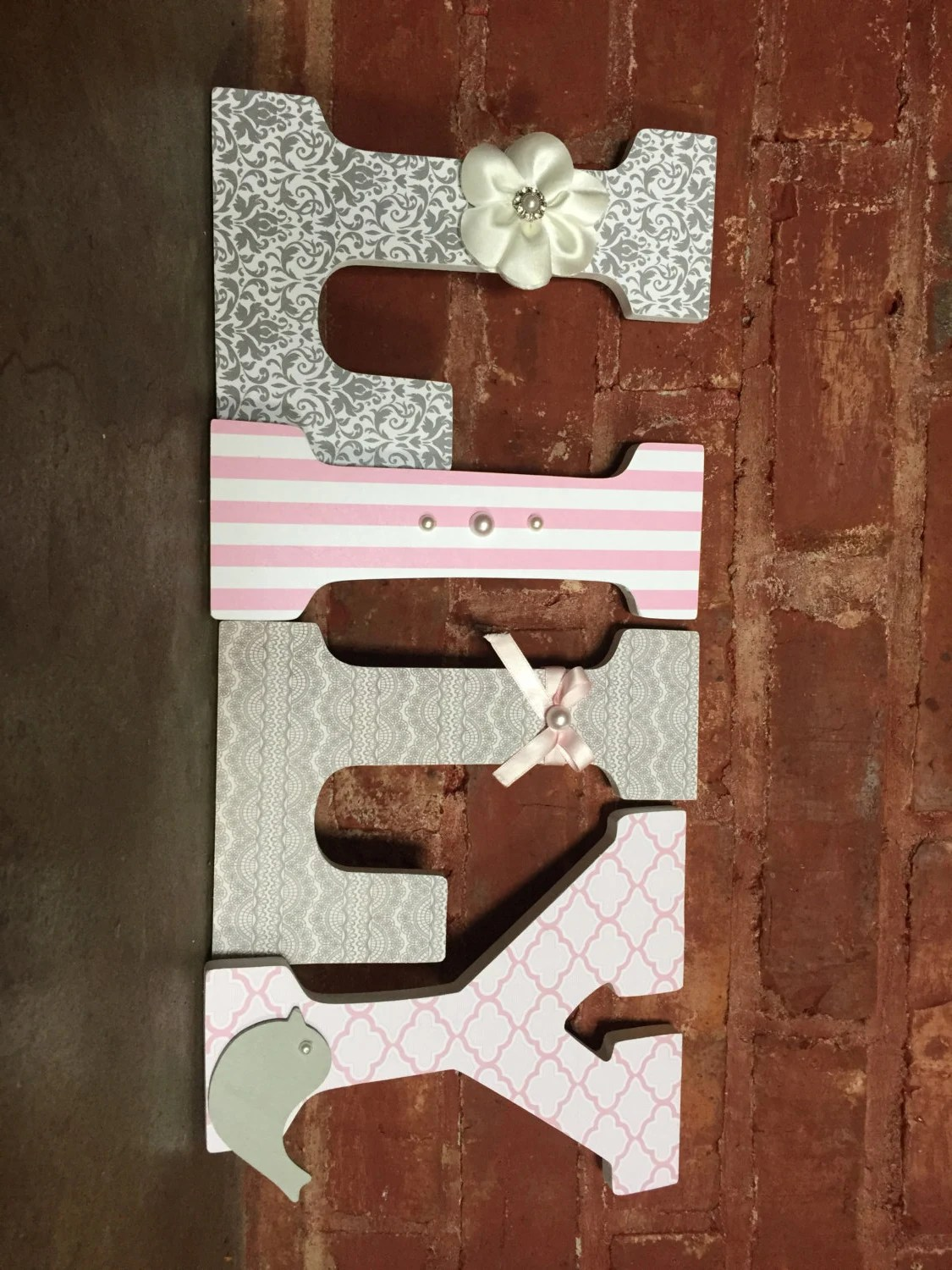 Best Custom Decorative Wooden Letters Wooden Names Girls Room This Month