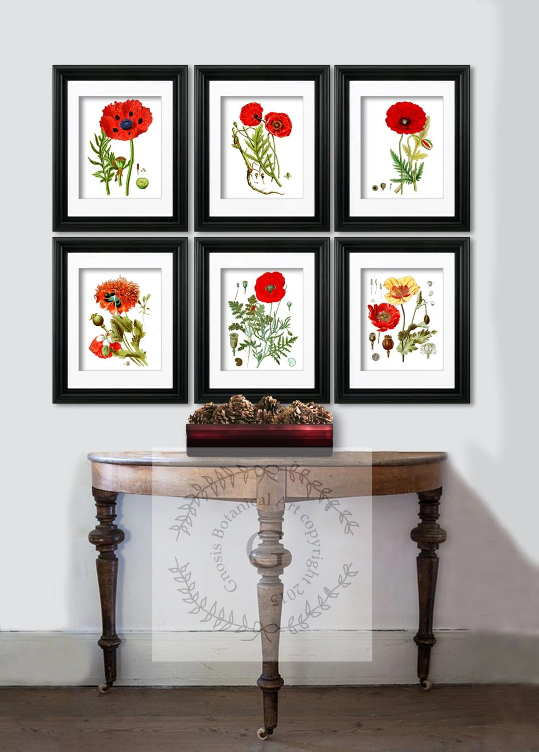 Best Red Poppy Decor Botanical Prints Red Flowers Poppy Wall Art This Month
