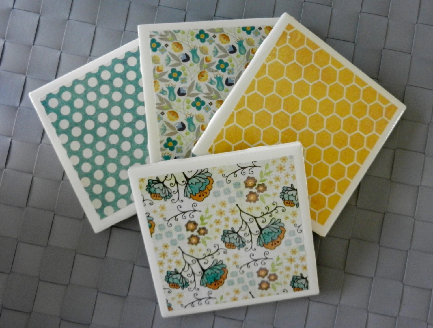Best Tile Coasters With Decorative Paper This Month