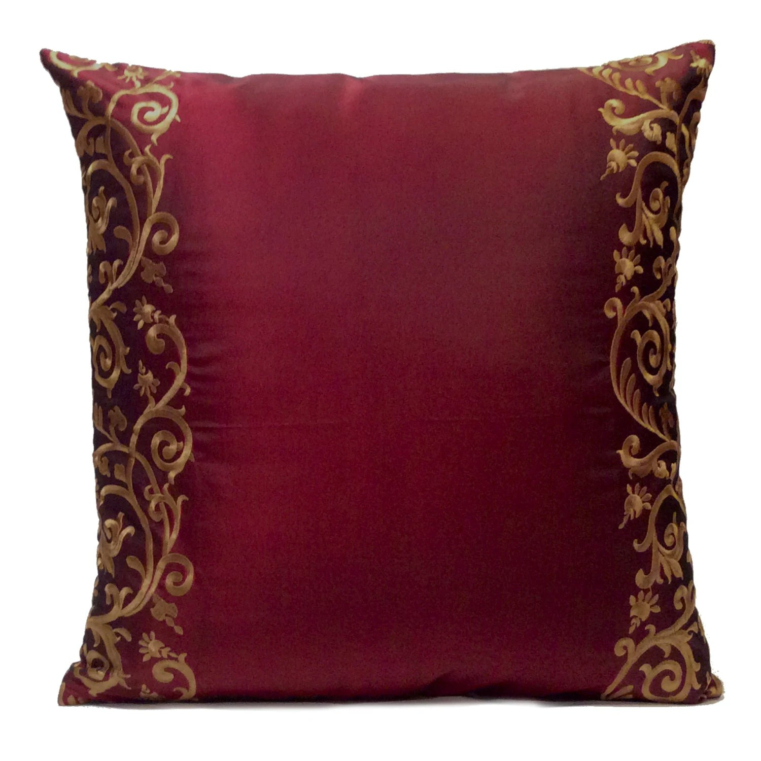 Best Burgundy Pillow Throw Pillow Cover Decorative Pillow Cover This Month