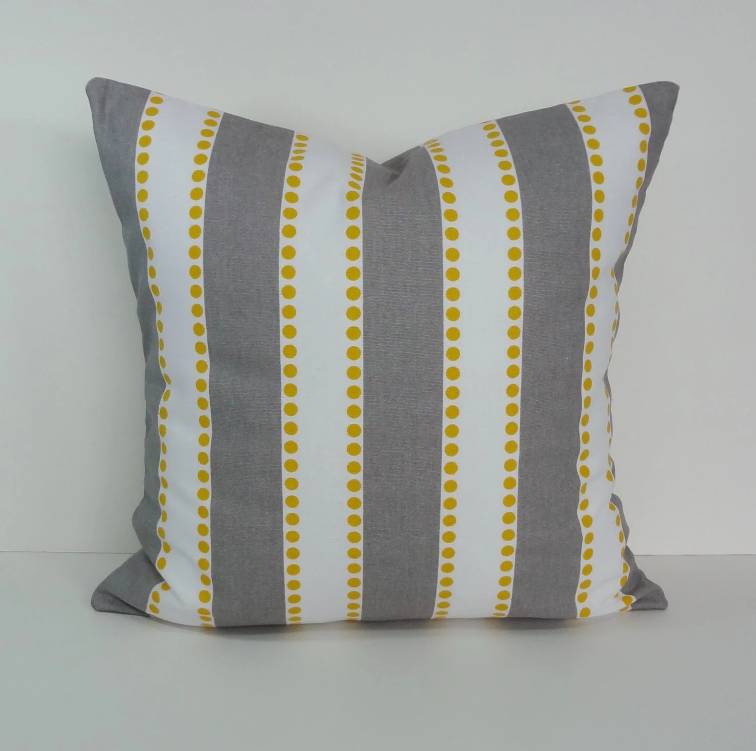 Best Yellow And Gray Striped Lulu Decorative Pillow Cover Throw This Month