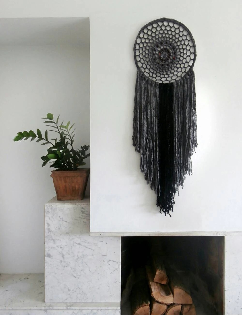 Best Large Bohemian Décor Black And Gray Wall Tapestry Doily This Month