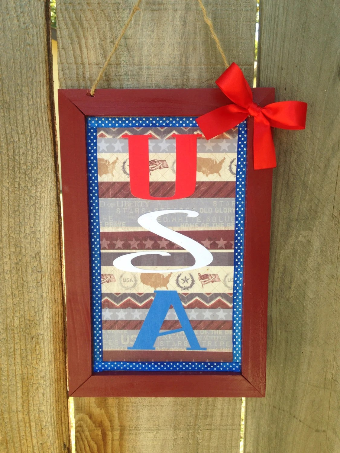 Best Usa Wooden Sign Patriotic Americana Wall Decor By This Month