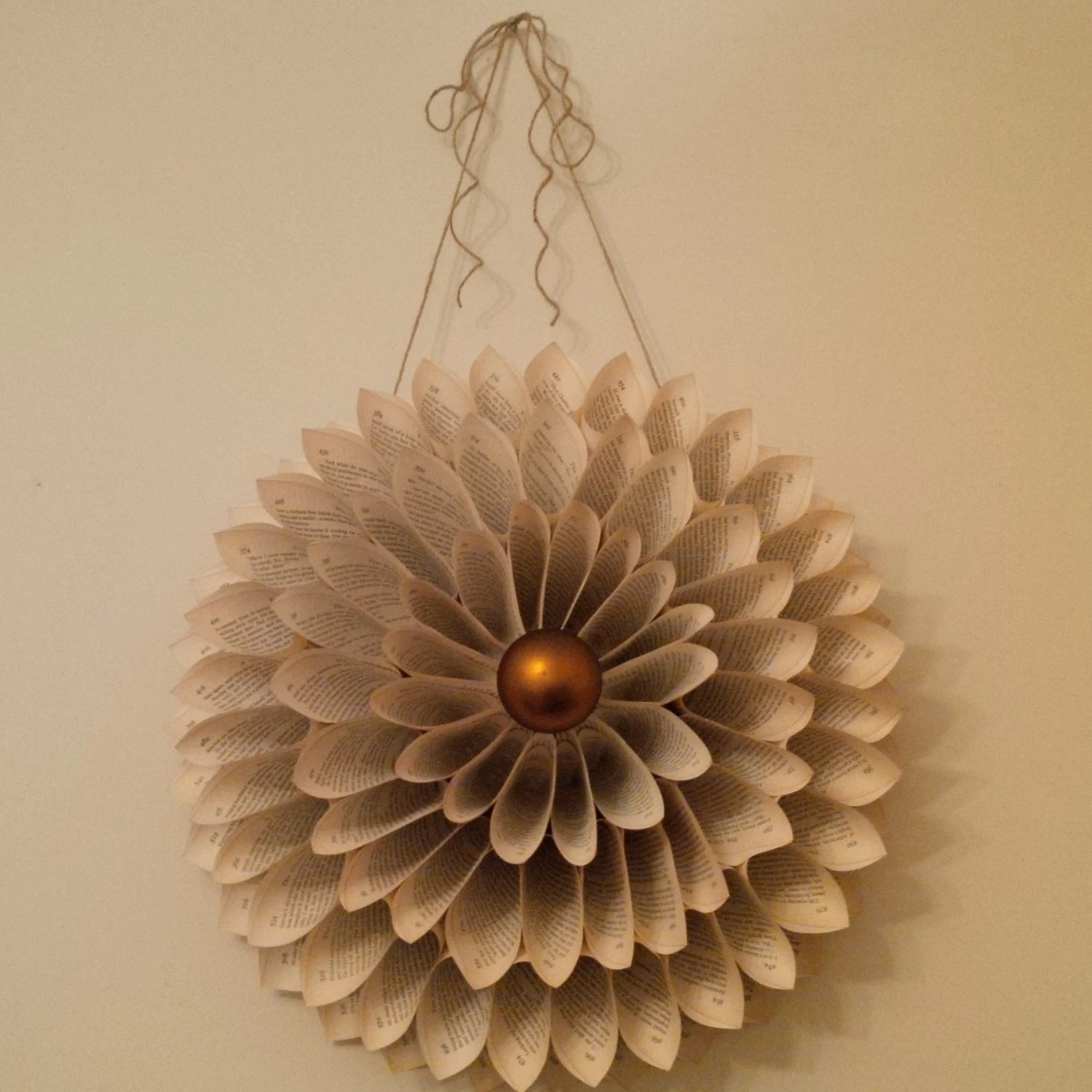 Best How To Make An Old Book Wreath Tutorial Home Décor Wall This Month