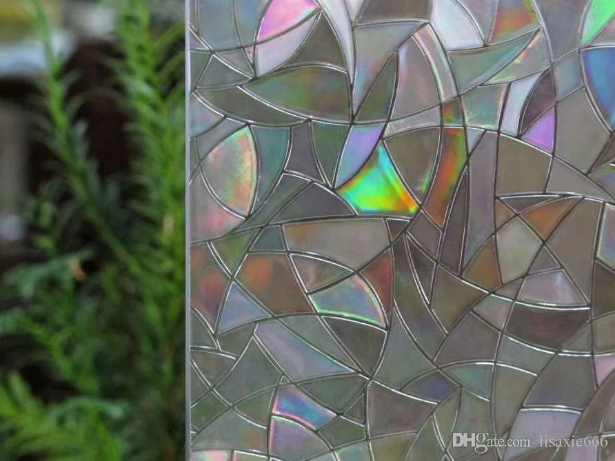 Best Window Film 3D View Frosted Stained Sticker Glass Static Cling This Month