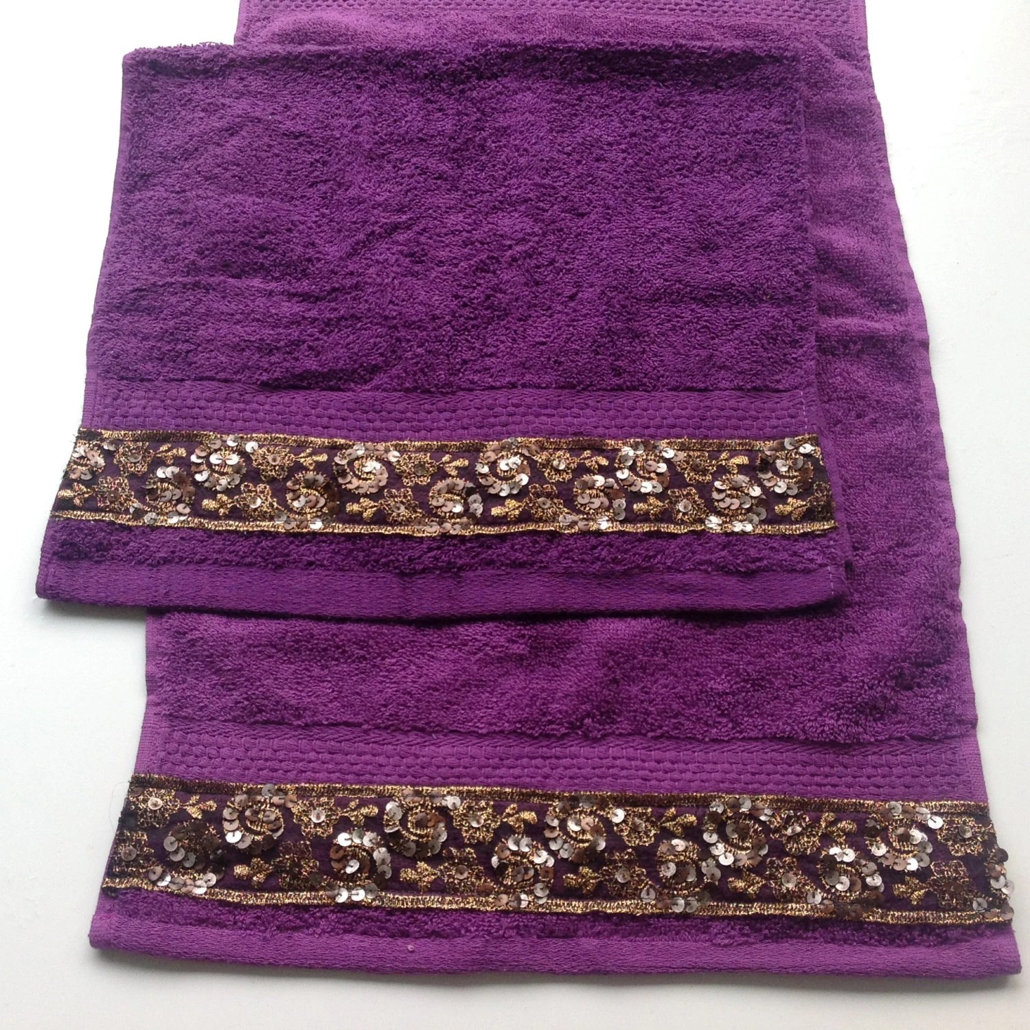 Best Purple Hand Towel Set Of 2 Decorative Bathroom Decor Gift This Month