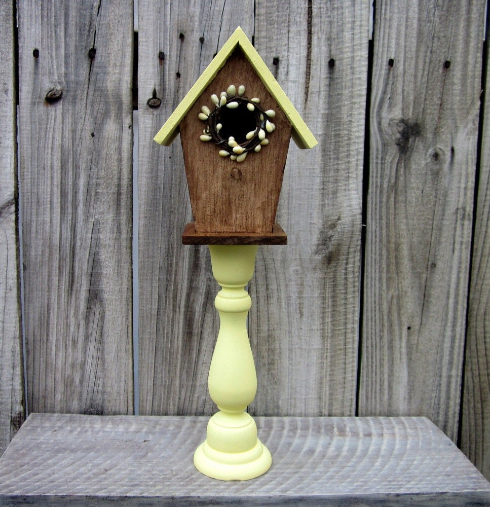 Best Decorative Birdhouse Pedestal Bird House Pale Yellow Pip This Month