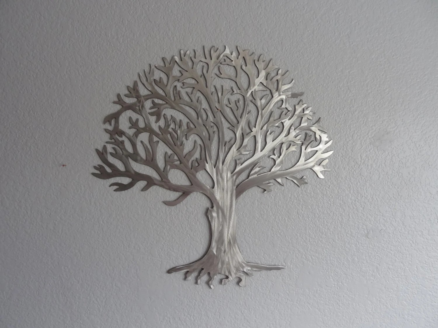 Best Metal Tree Stainless Steel Tree Wall Art Wall By This Month