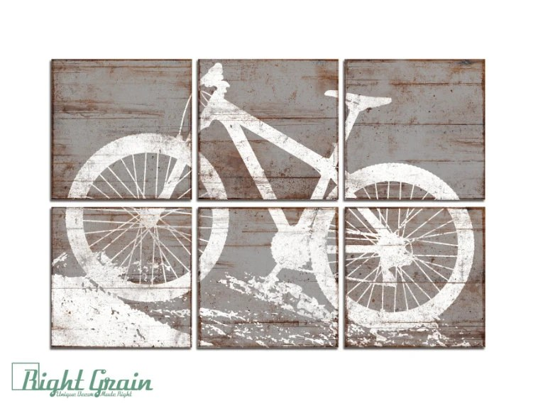 Best Kids Room Decor Large Mountain Bike Print Bicycle By This Month