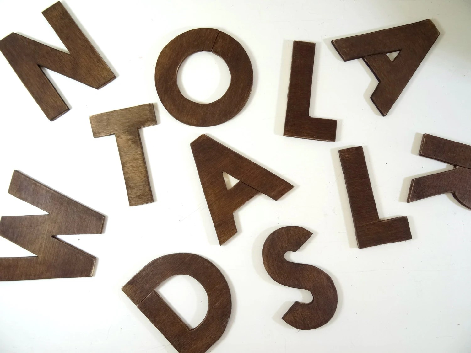 Best Wooden Letters Size 4 Wall Decor Wooden This Month