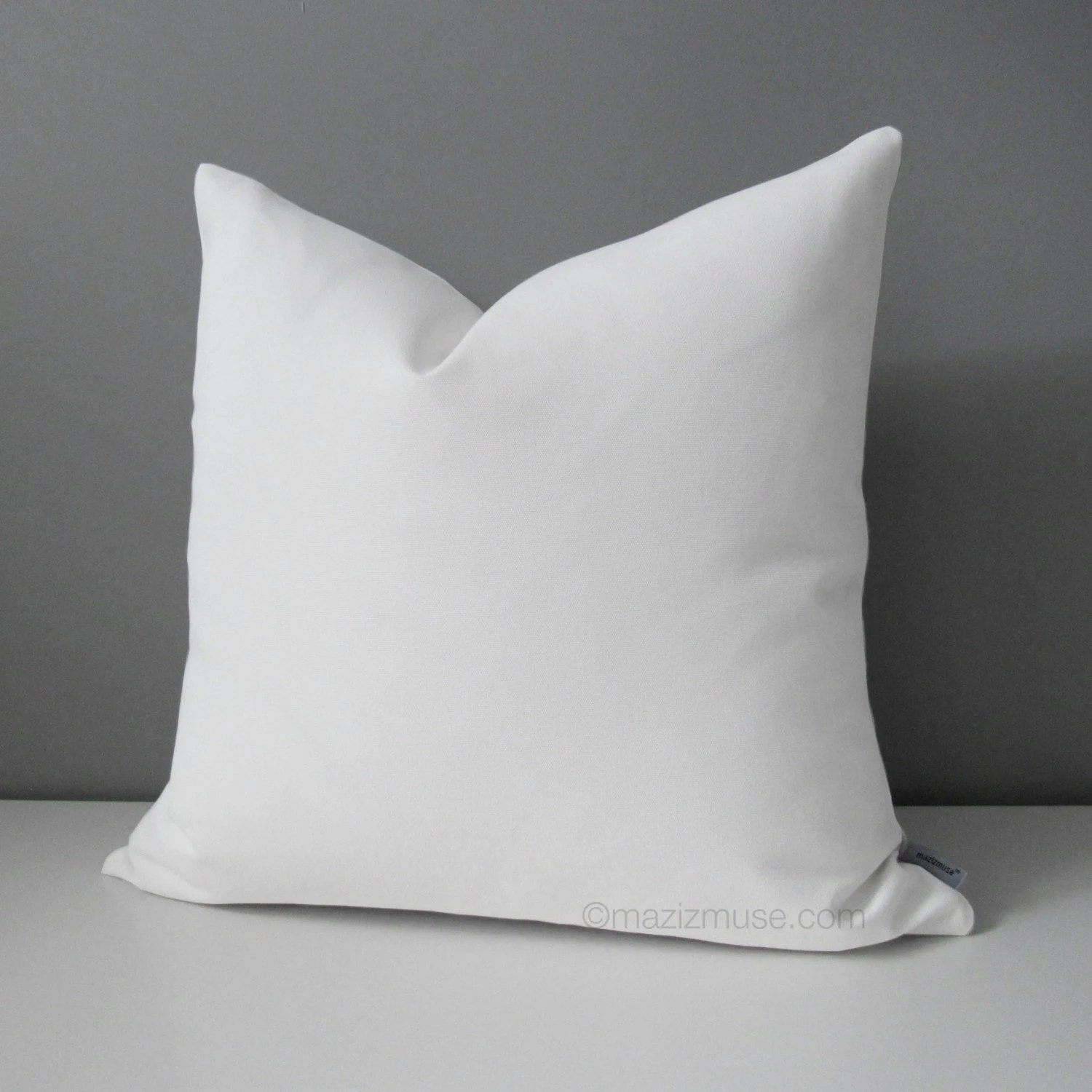 Best Modern White Outdoor Pillow Cover Decorative Throw Pillow This Month