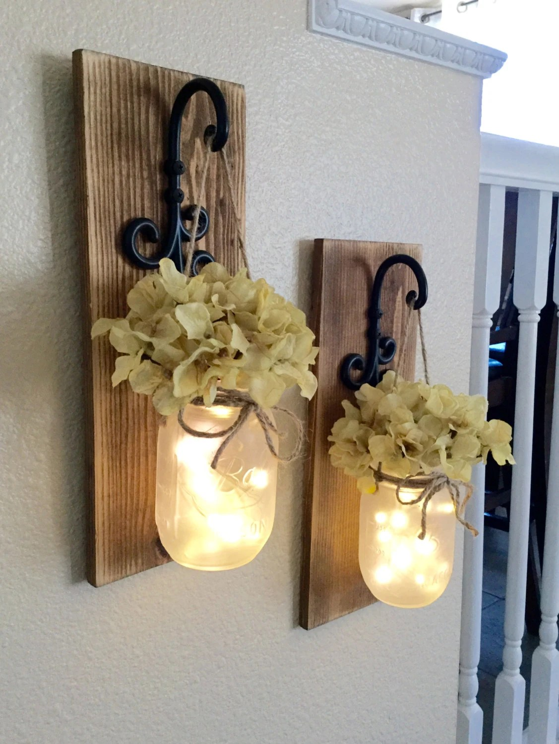 Best Rustic Mason Jar Sconce With Lightsmason Jar Decormason Jar This Month
