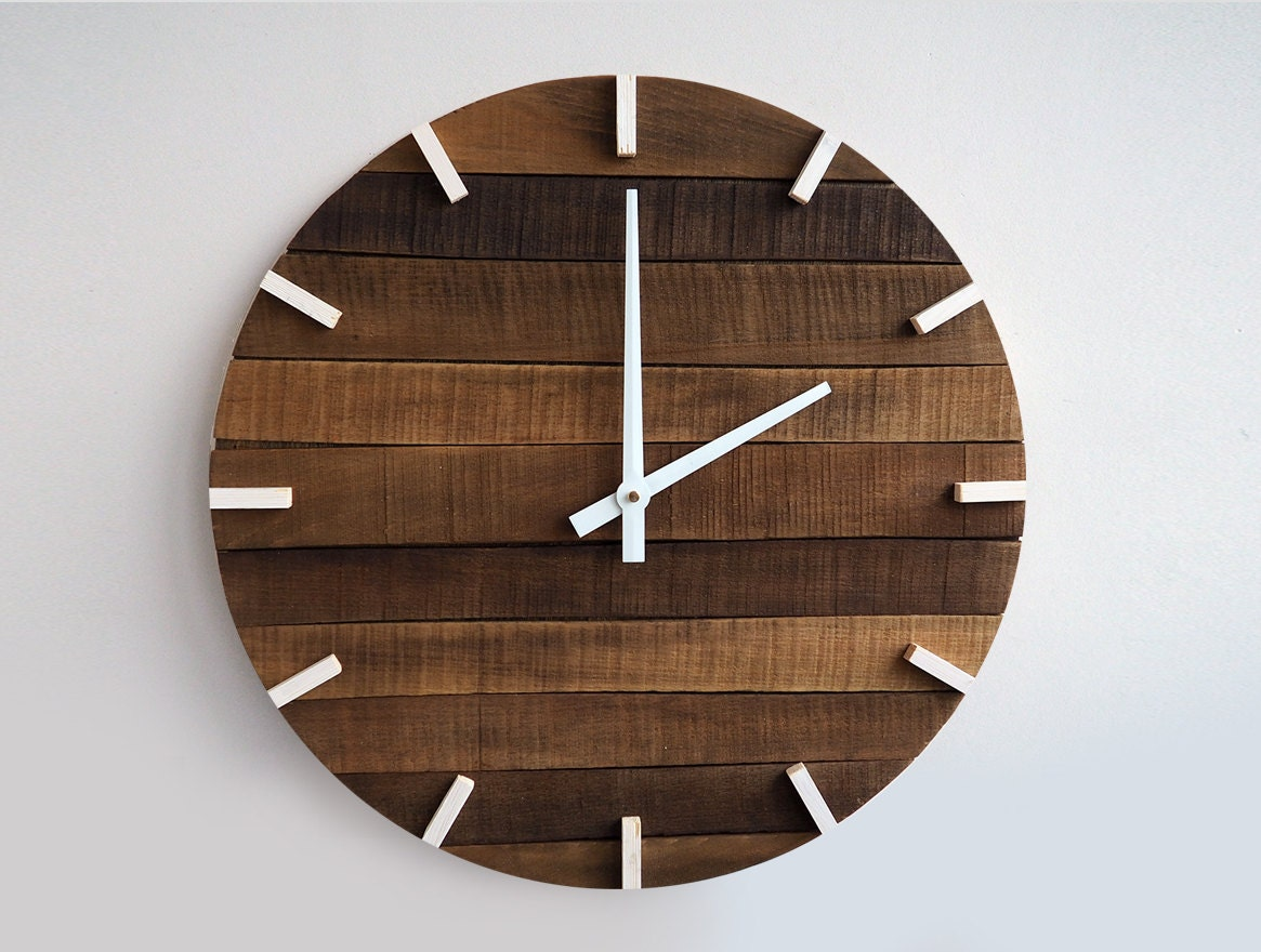 Best Rustic Wall Clock Large Wall Clock Home Decor By This Month