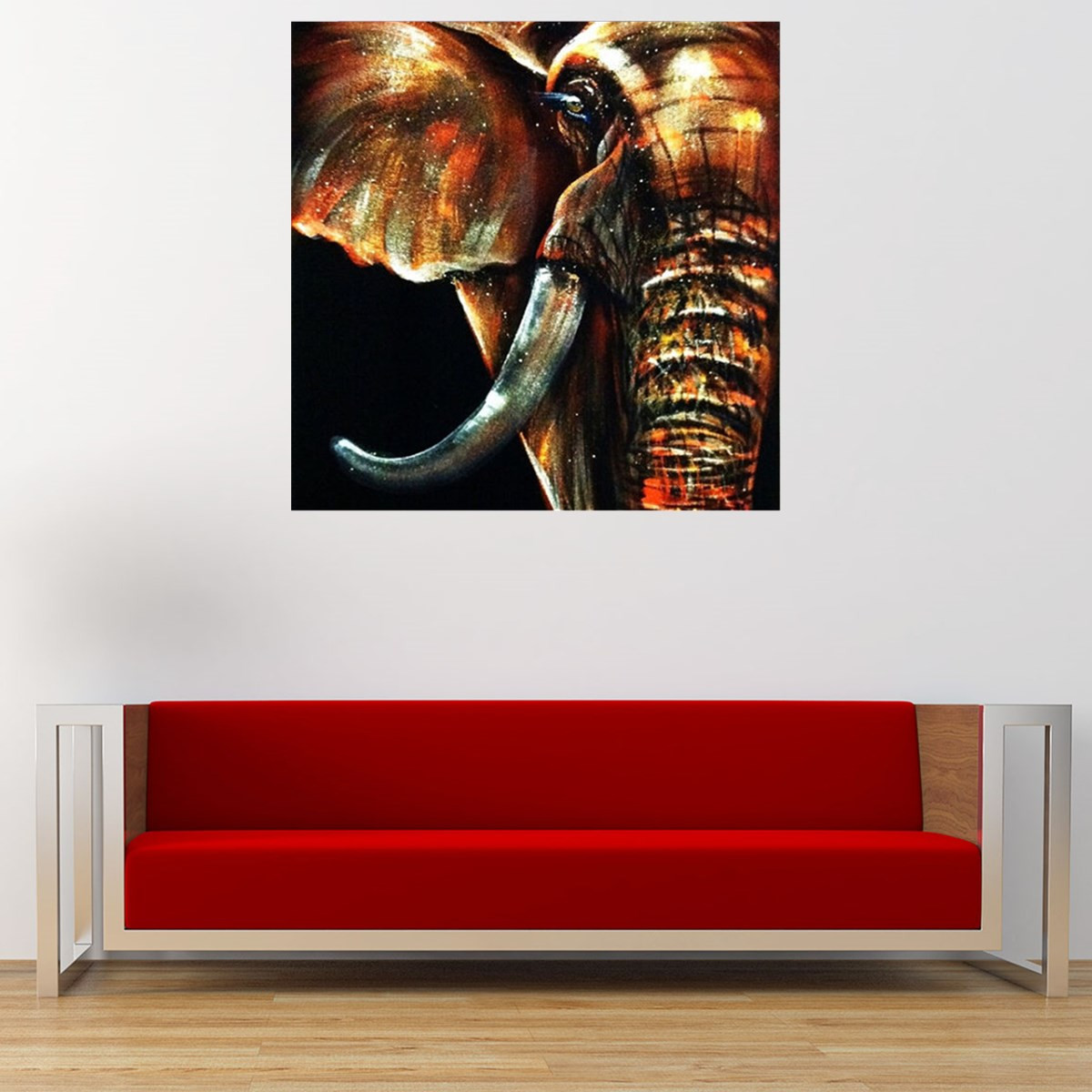 Best 50X50Cm Modern Abstract Huge Elephant Wall Art Decor Oil This Month