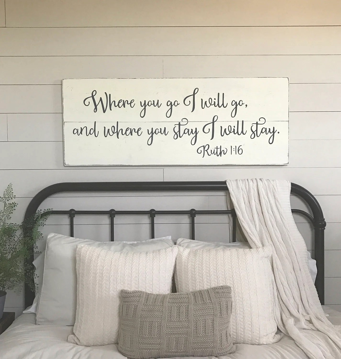 Best Bedroom Wall Decor Where You Go I Will Go Wood Signs Etsy This Month