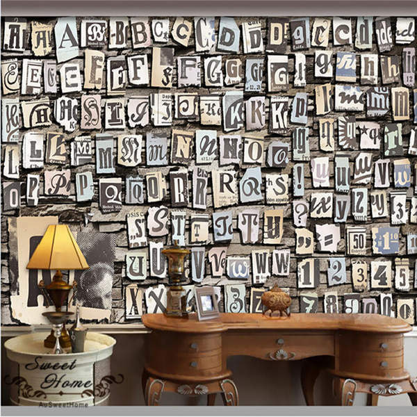Best 3D Letters Numbers Symbol Wallpaper Full Wall Mural Photo This Month