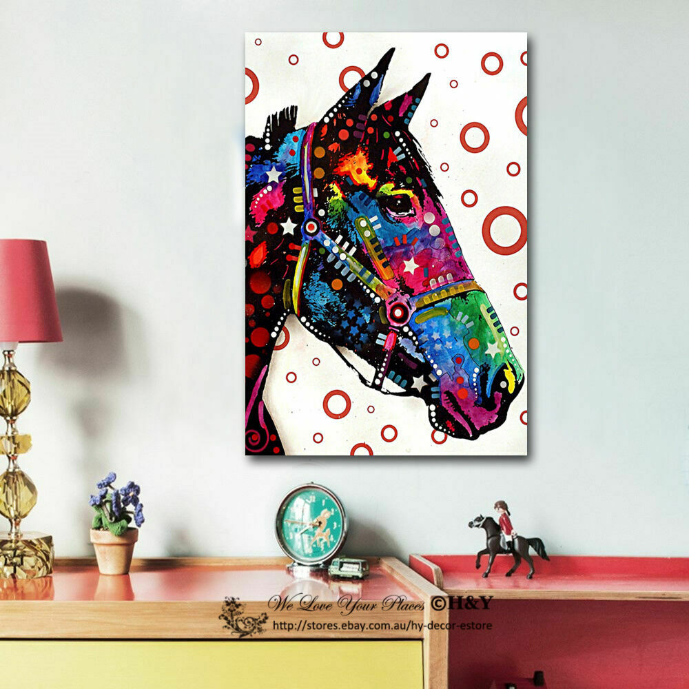 Best Colour Horse Abstract Canvas Prints Framed Wall Art Home This Month