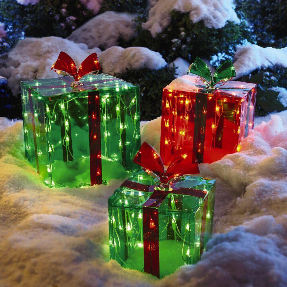 Best 3 Lighted Gift Boxes Christmas Decoration Yard Decor 150 This Month