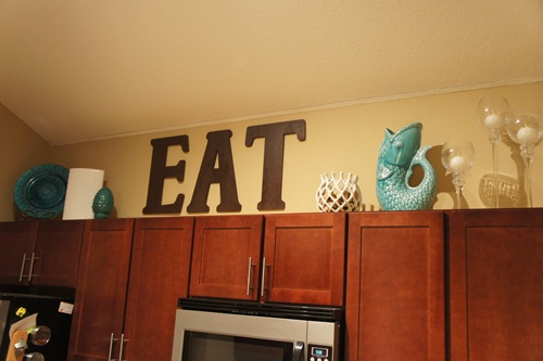 Best Decorating Above The Kitchen Cabinets Little Lessons In This Month