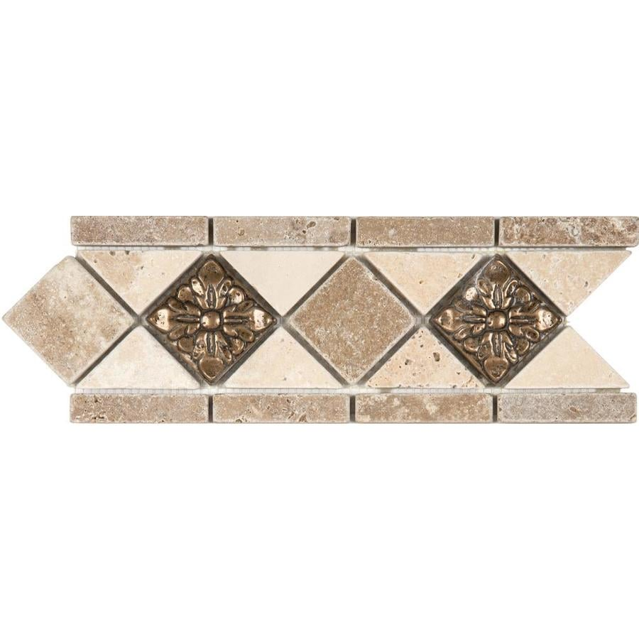 Best Anatolia Tile Noce And Chiaro With Metal Travertine This Month