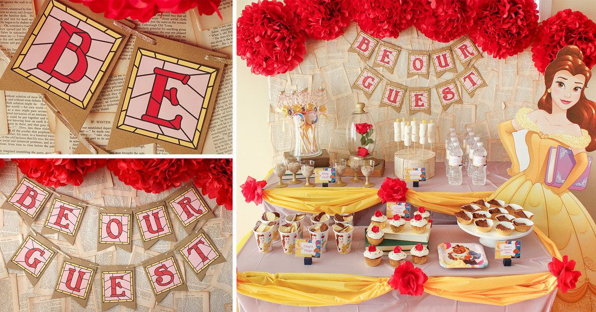 Best Princess Belle Party Ideas Disney Party Ideas At This Month