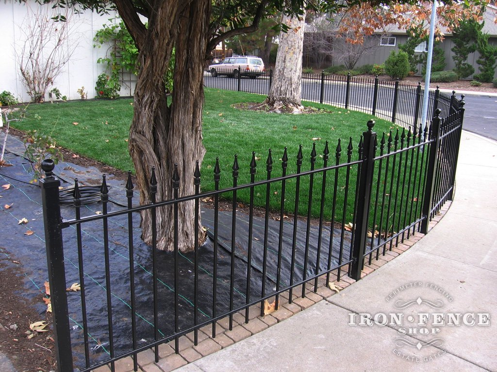 Best Installing Wrought Iron Fence Panels Around A Radius This Month