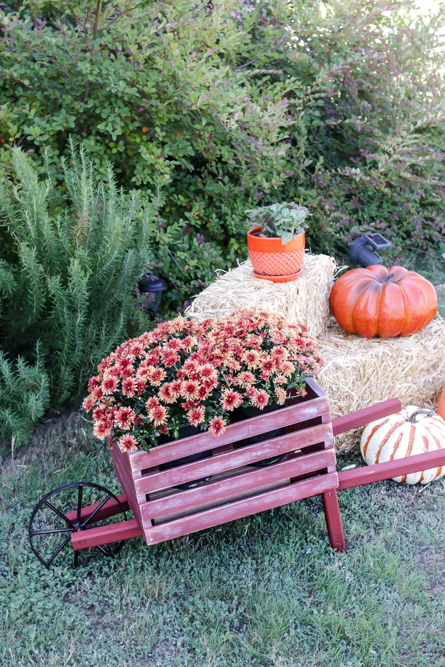 Best How To Tutorial Build A Diy Rustic Wheelbarrow For Fall This Month