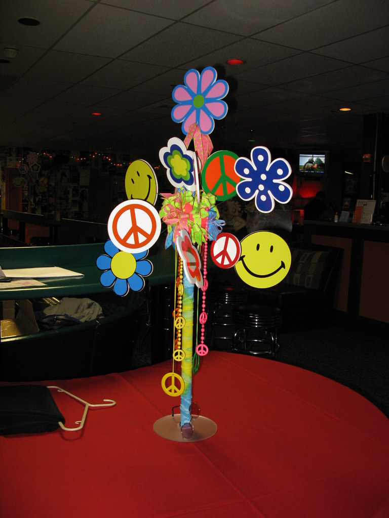 Best 60 S Theme Hippy Love Centerpiece The Prop Factory Flickr This Month
