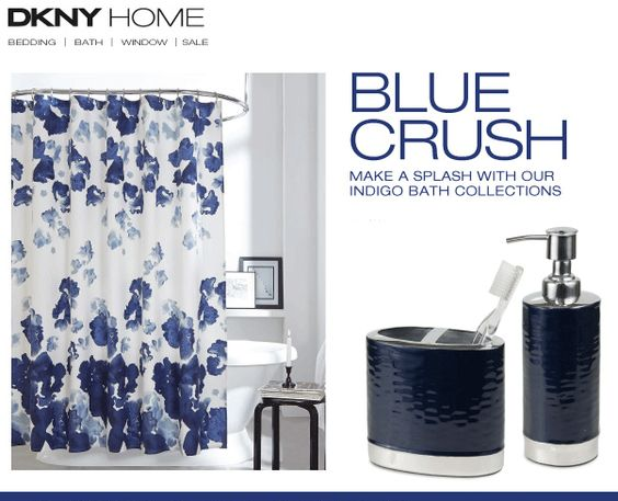 Best Indigo Blue Bathroom Accessories From Dkny Home Blue This Month